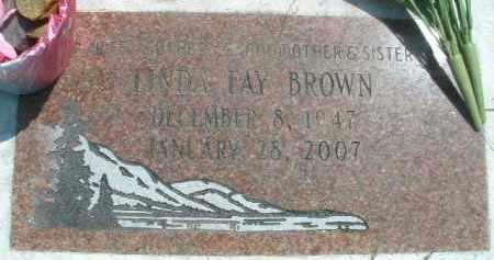 BROWN, LINDA FAY - Klamath County, Oregon   LINDA FAY BROWN - Oregon Gravestone Photos