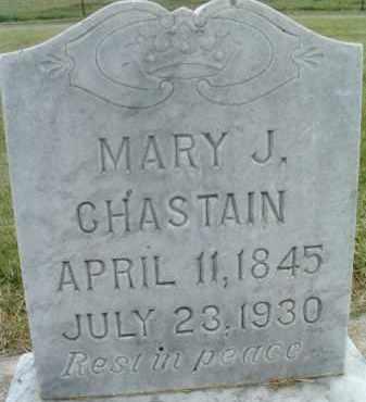 CHASTAIN, MARY J. - Klamath County, Oregon   MARY J. CHASTAIN - Oregon Gravestone Photos