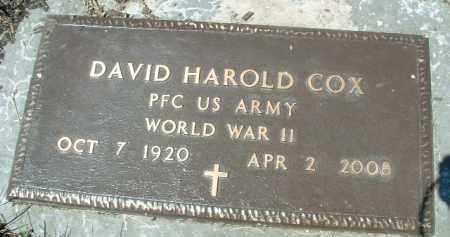 COX, DAVID HAROLD - Klamath County, Oregon | DAVID HAROLD COX - Oregon Gravestone Photos