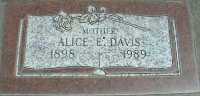 DAVIS, ALICE E. - Klamath County, Oregon | ALICE E. DAVIS - Oregon Gravestone Photos