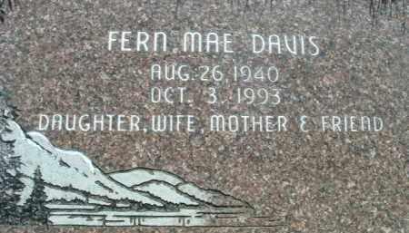 DAVIS, FERN MAE - Klamath County, Oregon | FERN MAE DAVIS - Oregon Gravestone Photos