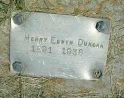 DUNCAN, HENRY EDWIN - Klamath County, Oregon | HENRY EDWIN DUNCAN - Oregon Gravestone Photos