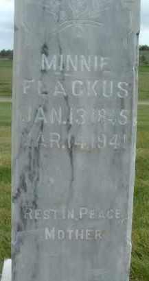 FLACKUS, MINNIE - Klamath County, Oregon | MINNIE FLACKUS - Oregon Gravestone Photos
