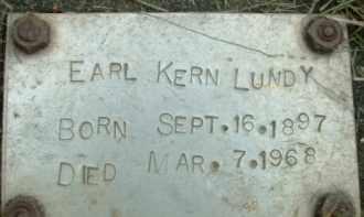 LUNDY, EARL KERN - Klamath County, Oregon | EARL KERN LUNDY - Oregon Gravestone Photos