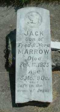 MARROW, JACK - Klamath County, Oregon | JACK MARROW - Oregon Gravestone Photos