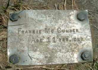 MCCUMBER, FRANKIE - Klamath County, Oregon   FRANKIE MCCUMBER - Oregon Gravestone Photos