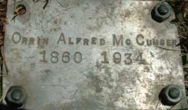 MCCUMBER, ORRIN ALFRED - Klamath County, Oregon | ORRIN ALFRED MCCUMBER - Oregon Gravestone Photos