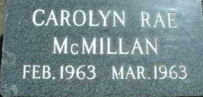 MCMILLAN, CAROLYN RAE - Klamath County, Oregon | CAROLYN RAE MCMILLAN - Oregon Gravestone Photos
