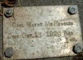 MCREYNOLDS, CARL WAYNE - Klamath County, Oregon   CARL WAYNE MCREYNOLDS - Oregon Gravestone Photos