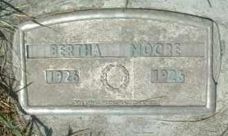 MOORE, BERTHA - Klamath County, Oregon   BERTHA MOORE - Oregon Gravestone Photos