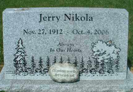 NIKOLA, JERRY - Klamath County, Oregon   JERRY NIKOLA - Oregon Gravestone Photos
