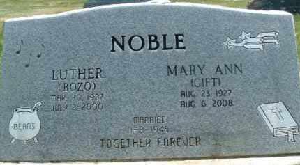 GIFT NOBLE, MARY ANN - Klamath County, Oregon   MARY ANN GIFT NOBLE - Oregon Gravestone Photos