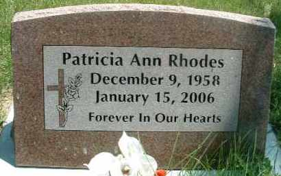 RHODES, PATRICIA ANN - Klamath County, Oregon   PATRICIA ANN RHODES - Oregon Gravestone Photos
