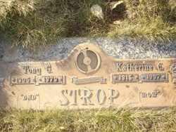 STROP, TONY G. - Klamath County, Oregon | TONY G. STROP - Oregon Gravestone Photos