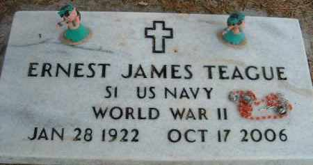 TEAGUE (WWII), ERNEST JAMES - Klamath County, Oregon | ERNEST JAMES TEAGUE (WWII) - Oregon Gravestone Photos