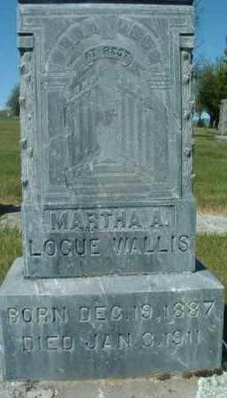 WALLIS, MARTHA A. - Klamath County, Oregon | MARTHA A. WALLIS - Oregon Gravestone Photos