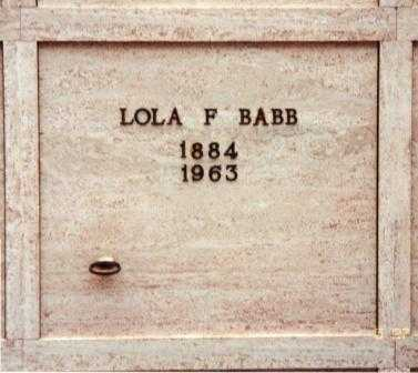 BABB, LOLA F. - Lane County, Oregon | LOLA F. BABB - Oregon Gravestone Photos