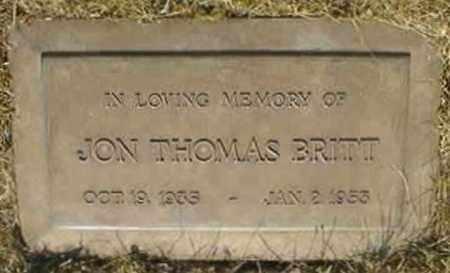 BRITT, JON THOMAS - Lane County, Oregon | JON THOMAS BRITT - Oregon Gravestone Photos