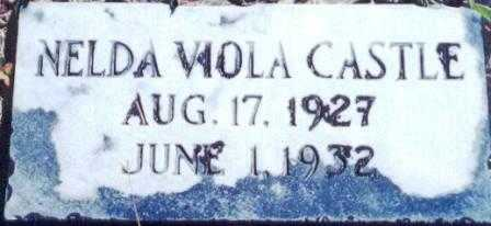 CASTLE, NELDA VIOLA - Lane County, Oregon | NELDA VIOLA CASTLE - Oregon Gravestone Photos