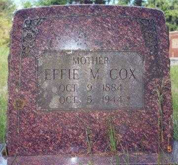 COX, EFFIE MATILDA - Lane County, Oregon | EFFIE MATILDA COX - Oregon Gravestone Photos