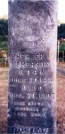 EMERSON, CHESTER MILO - Lane County, Oregon | CHESTER MILO EMERSON - Oregon Gravestone Photos