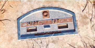 FAY, MARY - Lane County, Oregon   MARY FAY - Oregon Gravestone Photos