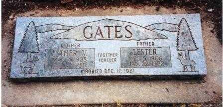 HAPNER GATES, ESTHER VIOLA - Lane County, Oregon | ESTHER VIOLA HAPNER GATES - Oregon Gravestone Photos