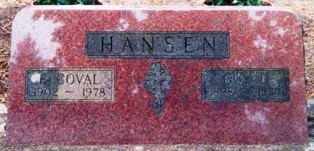 HANSEN, ELINOR COVAL - Lane County, Oregon | ELINOR COVAL HANSEN - Oregon Gravestone Photos