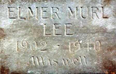 LEE, ELMER MURL - Lane County, Oregon | ELMER MURL LEE - Oregon Gravestone Photos