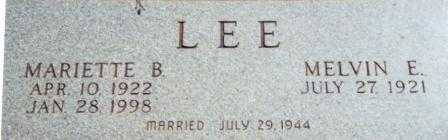 LEE, MELVIN ELMIER - Lane County, Oregon | MELVIN ELMIER LEE - Oregon Gravestone Photos