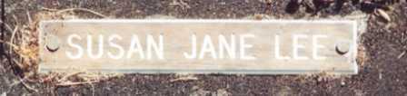 LEE, SUSAN JANE - Lane County, Oregon   SUSAN JANE LEE - Oregon Gravestone Photos