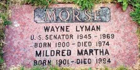 MORSE (US SENATOR), WAYNE LYMAN - Lane County, Oregon | WAYNE LYMAN MORSE (US SENATOR) - Oregon Gravestone Photos