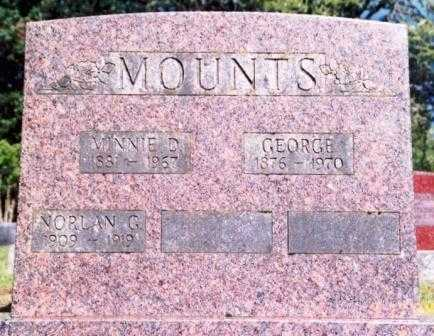 MOUNTS, MINNIE DELLA - Lane County, Oregon | MINNIE DELLA MOUNTS - Oregon Gravestone Photos