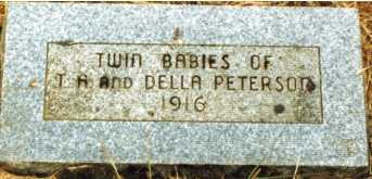PETERSON, TWIN DAUGHTER - Lane County, Oregon | TWIN DAUGHTER PETERSON - Oregon Gravestone Photos