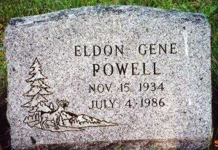 POWELL, ELDON GENE - Lane County, Oregon | ELDON GENE POWELL - Oregon Gravestone Photos