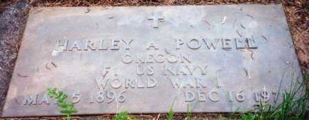 POWELL (WWI), HARLEY A - Lane County, Oregon | HARLEY A POWELL (WWI) - Oregon Gravestone Photos