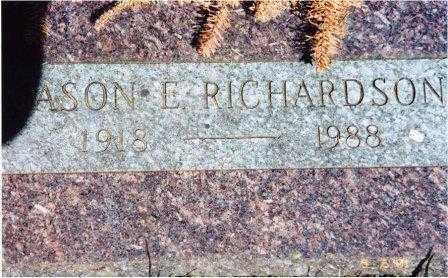 RICHARDSON, JASON E - Lane County, Oregon | JASON E RICHARDSON - Oregon Gravestone Photos