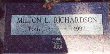 RICHARDSON, MILTON L - Lane County, Oregon | MILTON L RICHARDSON - Oregon Gravestone Photos