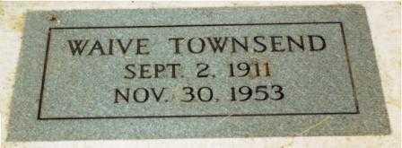 PETERSON TOWNSEND, WAIVE - Lane County, Oregon   WAIVE PETERSON TOWNSEND - Oregon Gravestone Photos
