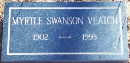 SWANSON VEATCH, MYRTLE IRENE - Lane County, Oregon | MYRTLE IRENE SWANSON VEATCH - Oregon Gravestone Photos