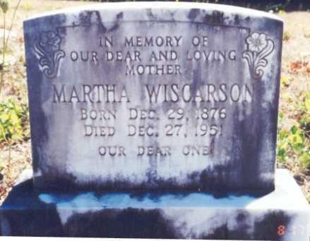 WISCARSON, MARTHA E. - Lane County, Oregon | MARTHA E. WISCARSON - Oregon Gravestone Photos