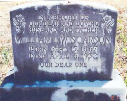 WISCARSON, WILLIAM LORENZO - Lane County, Oregon | WILLIAM LORENZO WISCARSON - Oregon Gravestone Photos