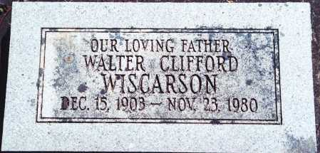 WISCARSON, WALTER CLIFFORD - Lane County, Oregon | WALTER CLIFFORD WISCARSON - Oregon Gravestone Photos