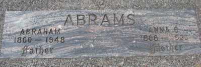 ABRAMS, ABRAHAM - Lincoln County, Oregon | ABRAHAM ABRAMS - Oregon Gravestone Photos