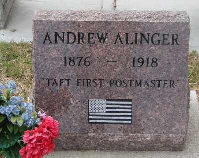 ALINGER, ANDREW - Lincoln County, Oregon | ANDREW ALINGER - Oregon Gravestone Photos