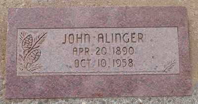 ALINGER, JOHN - Lincoln County, Oregon | JOHN ALINGER - Oregon Gravestone Photos