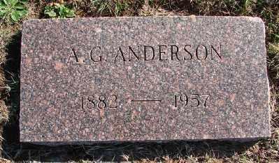ANDERSON, A G - Lincoln County, Oregon   A G ANDERSON - Oregon Gravestone Photos