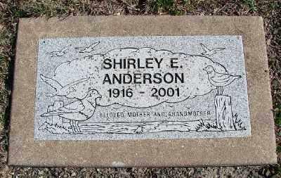 ANDERSON, SHIRLEY E - Lincoln County, Oregon | SHIRLEY E ANDERSON - Oregon Gravestone Photos