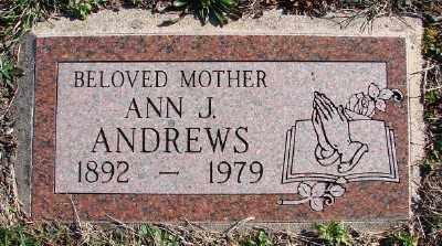 ANDREWS, ANN J - Lincoln County, Oregon | ANN J ANDREWS - Oregon Gravestone Photos