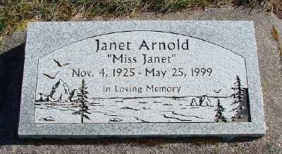 ARNOLD, JANET - Lincoln County, Oregon | JANET ARNOLD - Oregon Gravestone Photos